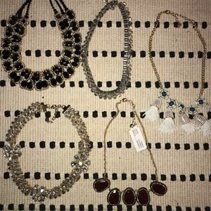 Lot of statement necklaces